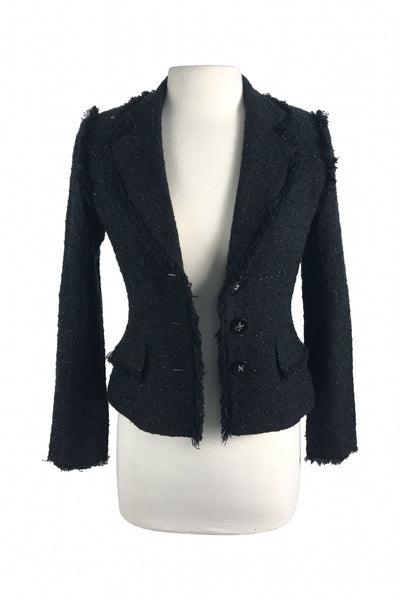 Odd Evens, Women's Black Jacket - Size: 3 (Regular)
