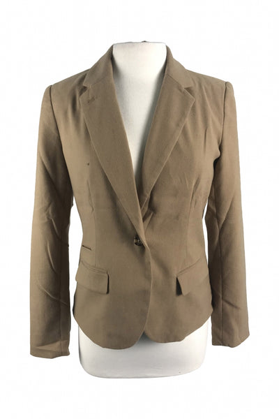 Merona, Women's Brown  Blazer - Size: 8 (Regular)