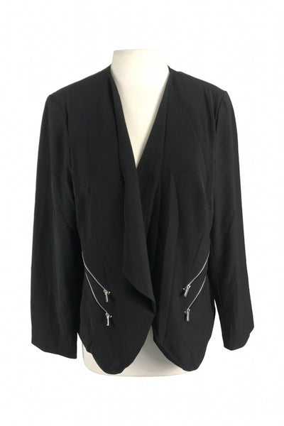 Roz & Ali, Women's Black Suit Jacket - Size: XL (Regular)