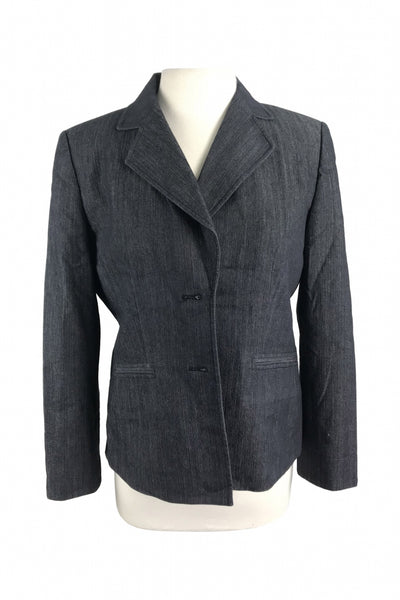 Evan Picone, Women's Gray Notched Lapel Suit Jacket - Size: 10 (Regular)