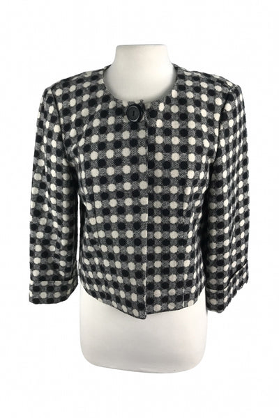 Larry Levine, Women's Black And White Jacket - Size: 12 (Regular)
