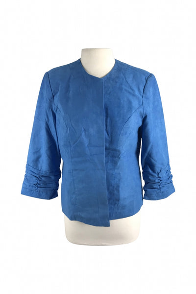 DressBarn, Women's Blue Long-sleeved Jacket - Size: L (Regular)