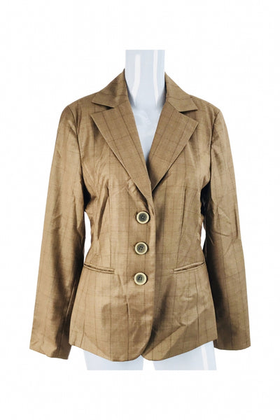 Tailor, Women's Brown 3-button Blazer - Size: 6 (Regular)