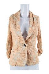 Unbranded, Women's Beige And Pink 1-button Blazer - Size: XS (Regular)