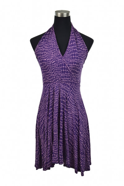 Unbranded, Women's Purple And Pink V-neck Halter Dress - Size: 0 (Regular)