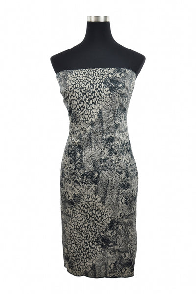 The Limited, Women's Gray And Black Tube Dress - Size: 10 (Regular)