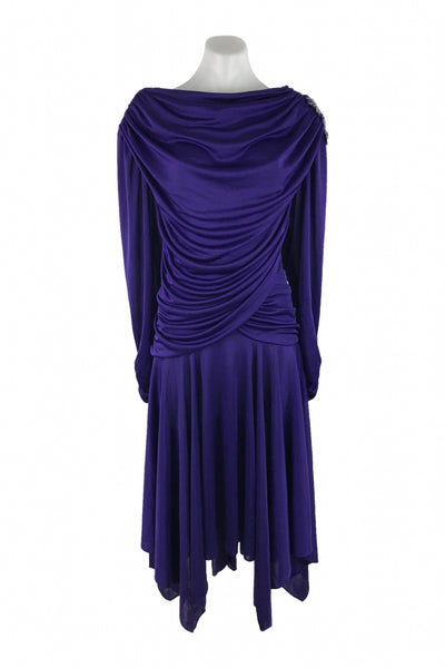 David Rose, Women's Purple Long-sleeved Dress - Size: 18 (Wide)