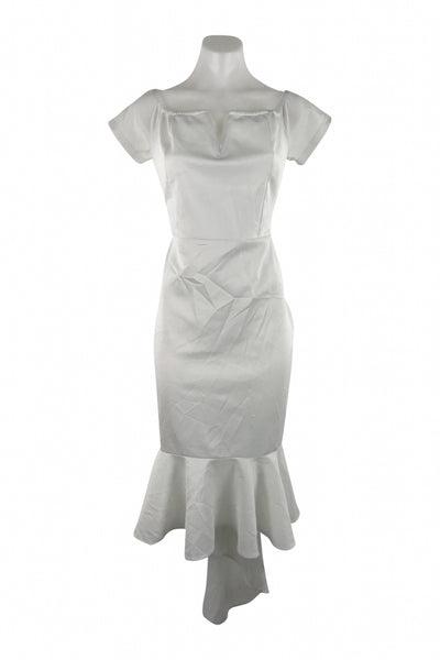 Unbranded, Women's White Dress - Size: L (Regular)