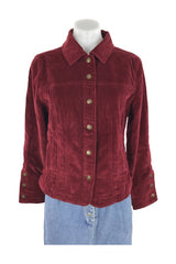 Ami, Women's Red Button-up Long-sleeved  Jacket - Size: S (Regular)