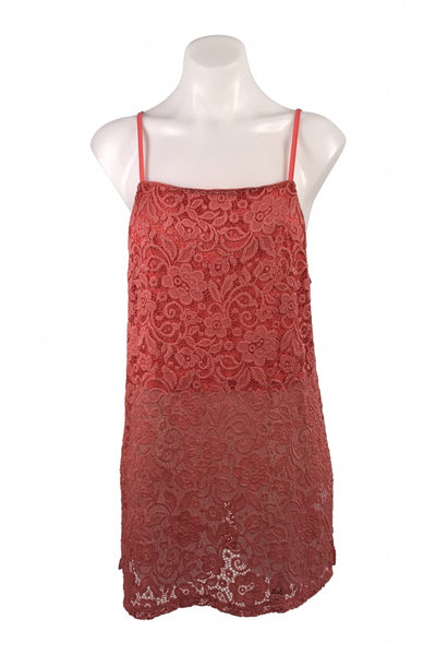 Unbranded, Women's Red  Floral Sleeveless Top - Size: L (Regular)