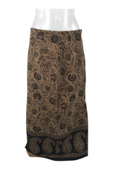 Briggs, Women's Brown And Black Floral Skirt - Size: 8 (Petite)