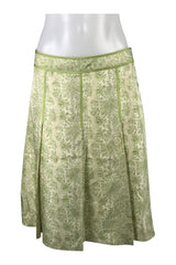 Ann Taylor, Women's Green Floral Skirt - Size: 2 (Regular)
