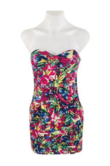 Unbranded, Women's Multicolored Floral Sleeveless Dress - Size: 6 (Regular)