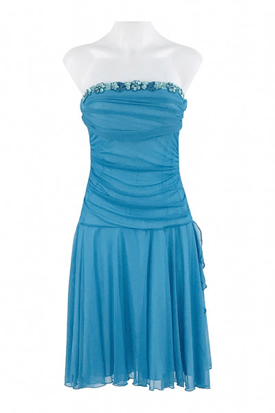 Studio Y, Women's Blue Strapless Dress - Size: S (Regular)