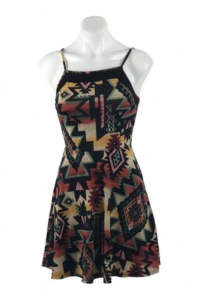 Xhilaration, Women's Black, Red, And White Printed Sleeveless Dress - Size: XS (Regular)
