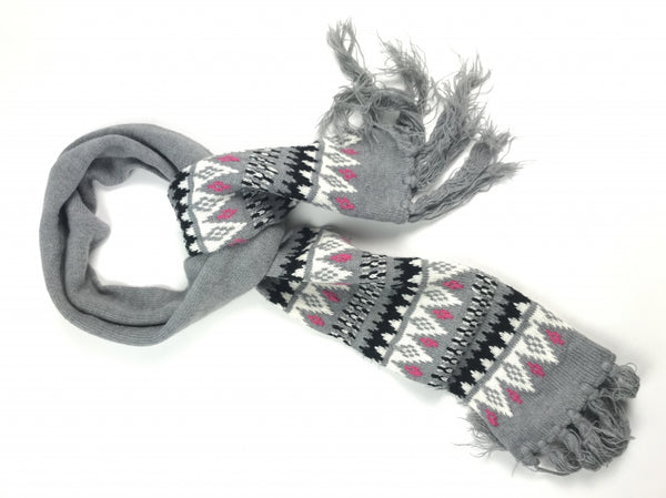 Unbranded, Women's Grey,black And White  Scarf - Size: One Size (Regular)