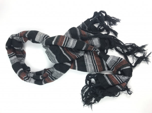 Unbranded, Women's Black And Grey Scarf - Size: One Size (Regular)