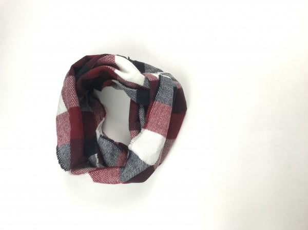 Unbranded, Women's Maroon,white And Black Scarf - Size: One Size (Regular)