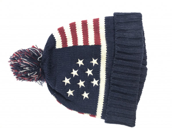 Unbranded, Women's Blue,red And White Beanie Hat - Size: One Size (Regular)