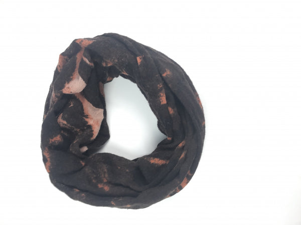 Deena & Ozzy, Women's Black And Brown Scarf - Size: One Size (Regular)