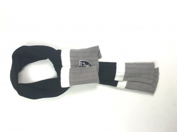 NFL, Women's Black And Grey Scarf - Size: One Size (Regular)