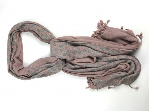 Unbranded, Women's Brown Floral Scarf - Size: One Size (Regular)