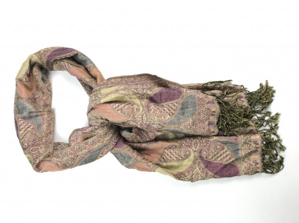 Pashmina, Women's Multi Color Floral Scarf - Size: One Size (Regular)