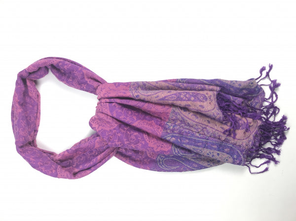 Pashmina, Women's Purple Floral Scarf - Size: One Size (Regular)