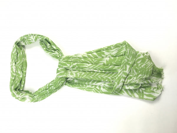 Unbranded, Women's Green And White Floral Scarf - Size: One Size (Regular)