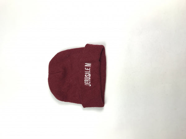 Unbranded, Women's Maroon Beanie Hat - Size: One Size (Regular)