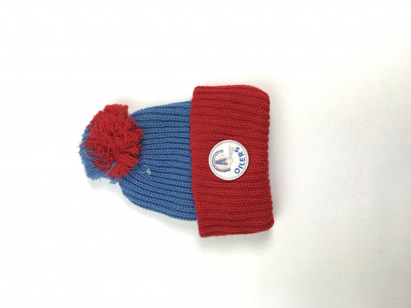 Unbranded, Women's Blue And Red Beanie Hat - Size: One Size (Regular)