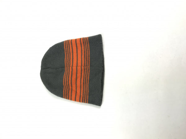 Unbranded, Women's Grey And Orange Beanie Hat - Size: One Size (Regular)