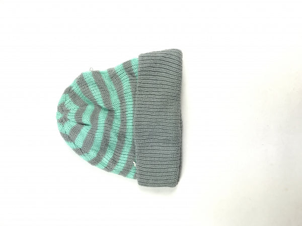 Unbranded, Women's Grey And Blue Beanie Hat - Size: One Size (Regular)