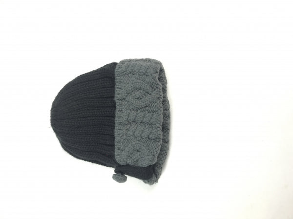 Moon Shadow, Women's Black And Gray Beanie Hat - Size: One Size (Regular)