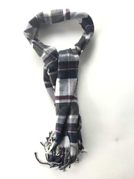 Unbranded Accessories, Women's Blue And Maroon Plaid Textile - Size: One Size (Regular)
