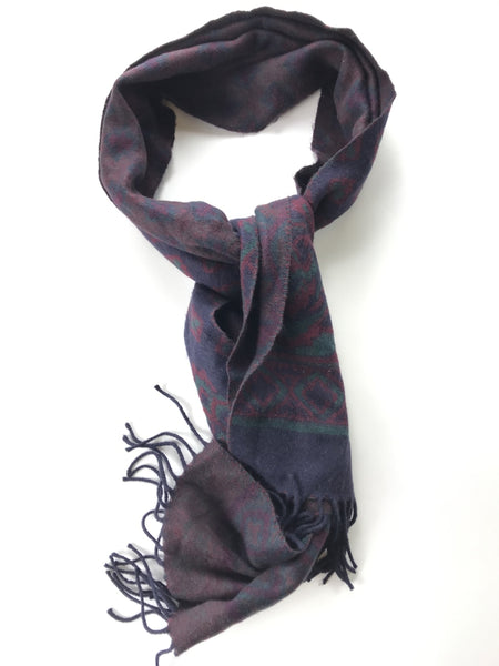 St Michael, Women's Purple And Brown Scarf - Size: One Size (Regular)
