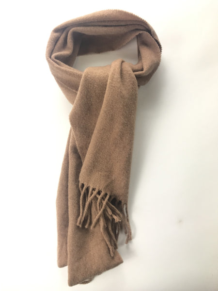 Polo By Ralph Lauren, Women's Brown Scarf With Fringe Accent - Size: One Size (Regular)