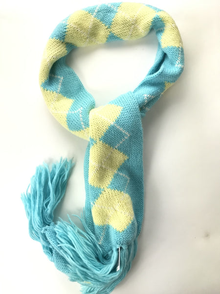 New York & Company, Women's Blue And Yellow Scarf - Size: One Size (Regular)