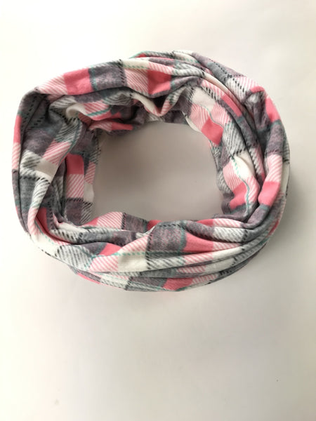 Unbranded, Women's Pink, White, And Gray Plaid Scarf - Size: One Size (Regular)