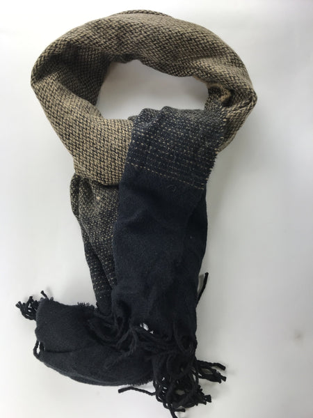 Unbranded, Women's Black And Brown Scarf - Size: One Size (Regular)