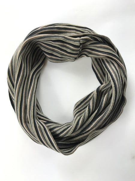 Cold Water Creek, Women's Beige And Black Striped Scarf - Size: One Size (Regular)