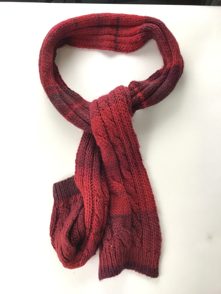 Raffaello Bettini, Women's Red And Maroon Scarf - Size: One Size (Regular)