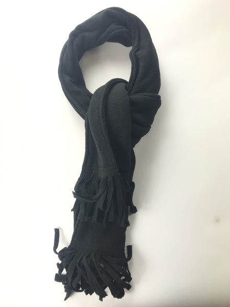 Talla Unica, Women's Black Scarf With Frayed Edges - Size: One Size (Regular)