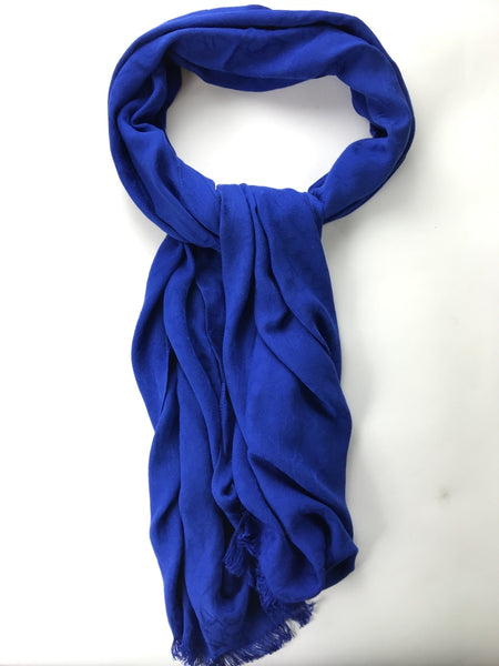 Calvin Klein, Women's Blue Scarf - Size: One Size (Regular)