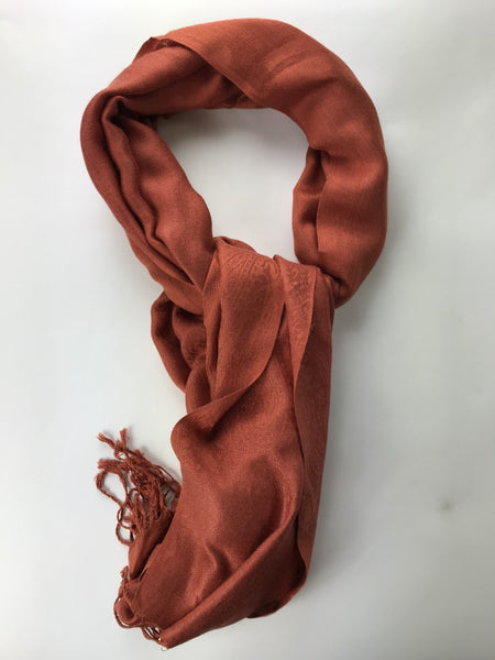 Unbranded, Women's Brown Scarf With Fringe - Size: One Size (Regular)