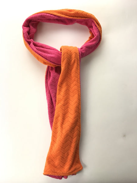 Cold Water Creek, Women's Orange And Pink Scarf - Size: One Size (Regular)