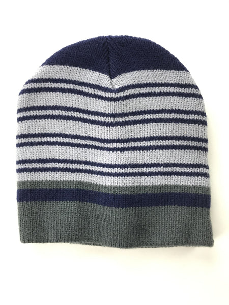 Unbranded Accessories, Women's White,Blue And Green Knitted Cap - Size: One Size (Regular)