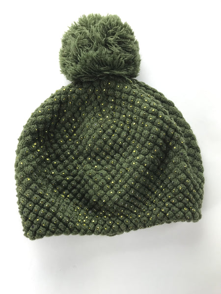 C.C Exclusives, Women's Green Bobble Hat - Size: One Size (Regular)