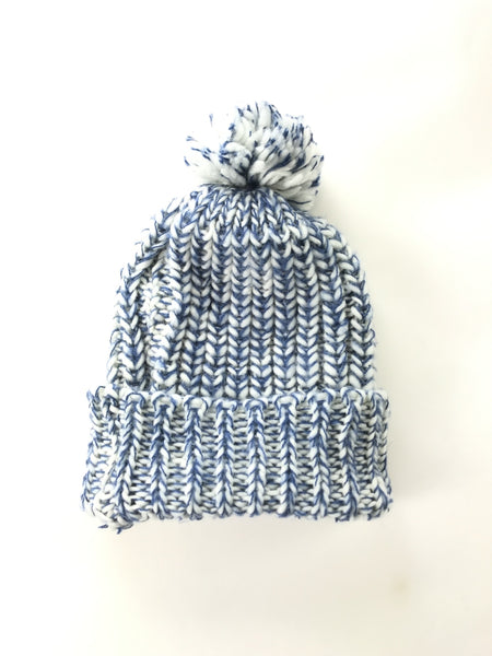 Unbranded Accessories, Women's White And Blue Knitted Textile - Size: One Size (Regular)