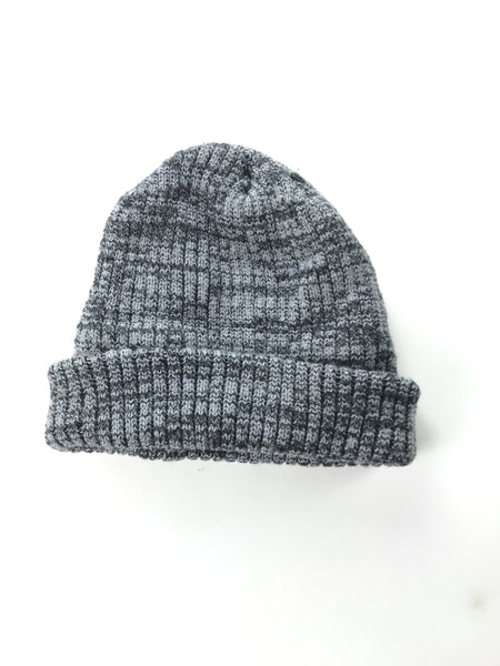 Unbranded Accessories, Women's Black And Grey Knitted Beanie Cap - Size: One Size (Regular)